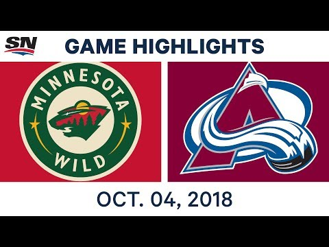 NHL Highlights | Wild vs. Avalanche - Oct. 4, 2018