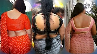 Beautiful stylish saree designs ideas front and back awesome looks