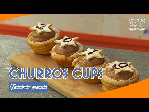 Churros cups - Technische opdracht | HEEL HOLLAND BAKT