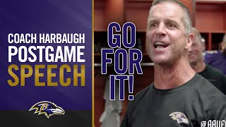 Coach Harbaugh's Postgame Speech After Win Against Chiefs | Baltimore Ravens