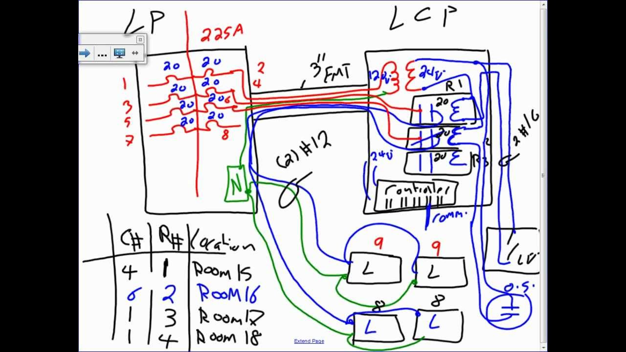 lighting control panel 10 30 12 youtube rh youtube com 277 Volt Lighting Diagram Relay Switch Wiring Diagram