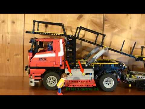 lego technic camion 8258 remorque doovi. Black Bedroom Furniture Sets. Home Design Ideas