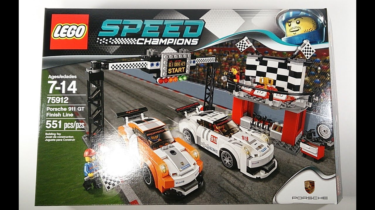 lego speed champions porsche 911 gt finish line review set. Black Bedroom Furniture Sets. Home Design Ideas