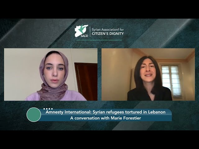 Torture of Syrian refugees in Lebanon: A conversation with Marie Forestier