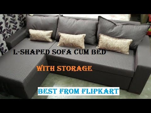 Sofa Cum Bed L-Shaped, 6\'x4\', Unboxing & installation, Best from Flipkart
