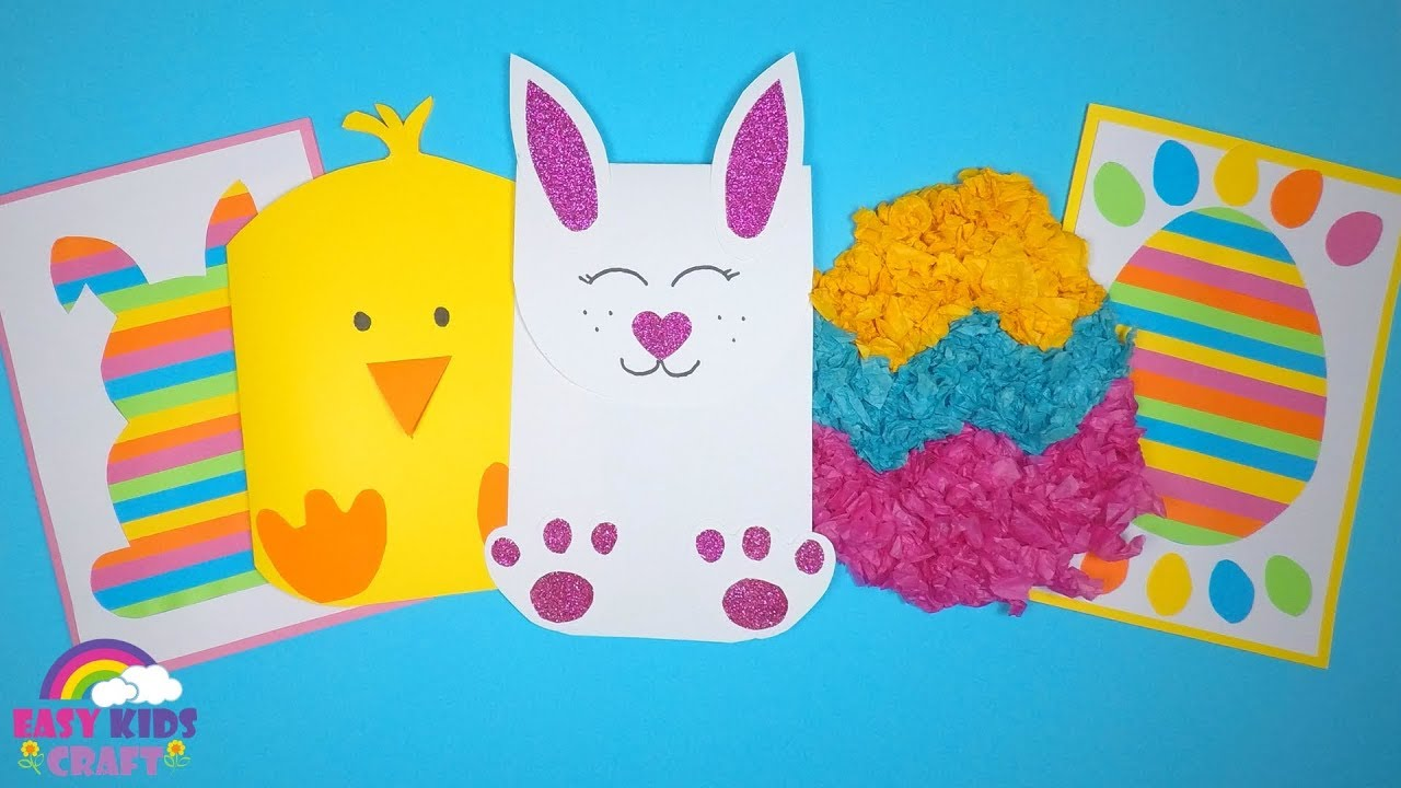 Easy Easter Card Ideas Easter Crafts For Kids Youtube