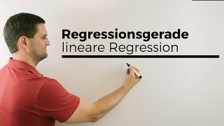 Regressionsgeraden, lineare Regression, Statistik | Mathe by Daniel Jung
