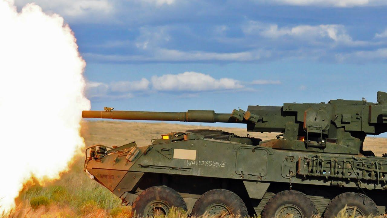 ストライカー装甲車 105mm戦車砲...
