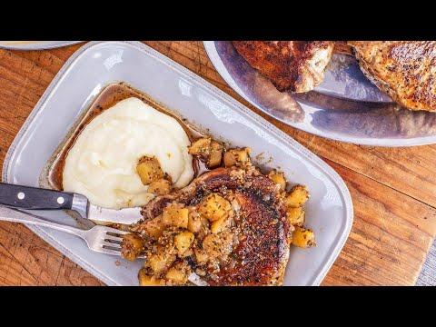 How To Make Pork Chops With Honey, Herb, Dijon Applesauce By Rachael
