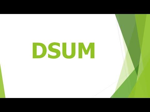 Hướng dẫn sử dụng hàm Dsum