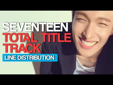 Seventeen - Total Title Track Line Distribution (Color Coded)