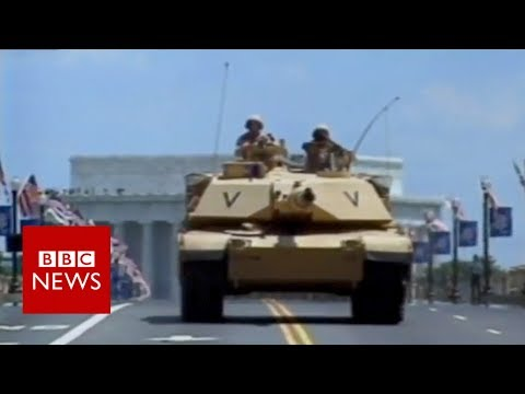Fallen Soldier's Mother Remembers Last US Military Parade - BBC News