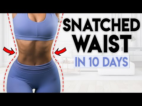 SNATCHED WAIST & ABS in 10 Days   5 minute Home Workout