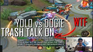 TT ON ! YOLO VS DOGIE  ! MOONTON AUTO REPORT WTF - MOBILE LEGENDS - 1000 DIAMONDS - RANK - GAMEPLAY