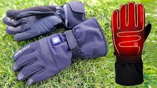 SNOW DEER Heated Gloves Review ✔️ Water Resistant Sheep Leather