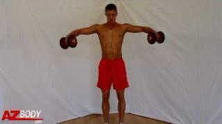 Musculation des épaules - Elévations latérales
