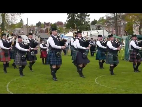City of Inverness (Grade 4) at the North of Scotland Pipe Band Competition at Banchory May 2016