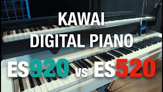KAWAI ES920 VS ES520 // SOUND COMPARISON // NO TALKING // By David HENRY