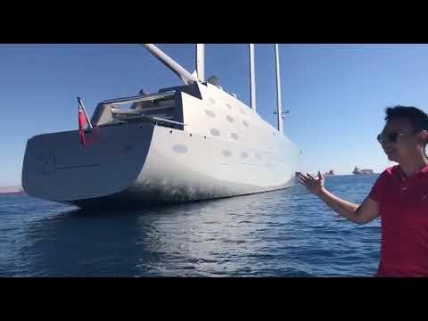 Leo Cường tình cờ gặp du thuyền A Hamington đẳng cấp 420 triệu usd tại Địa Trung Hải