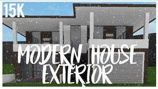 ROBLOX | Welcome to Bloxburg | Modern House EXTERIOR | 15k