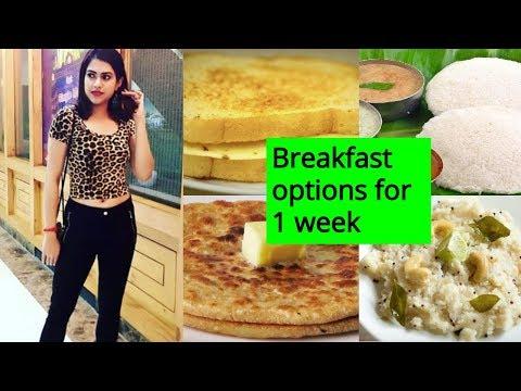 INDIAN BREAKFAST FOR WEIGHT LOSS For A Week  | 7 HEALTHY BREAKFAST IDEAS