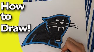 How to Draw the Carolina Panthers Logo Step by Step by Hand - Pencil Drawing