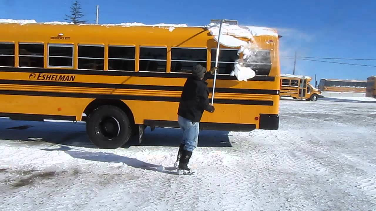 School Bus Snow Scraper Youtube