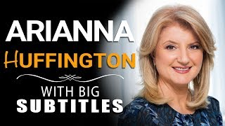 "Learn English | Arianna Huffington ""Lead the Third Women's Revolution!"" (with BIG subtitles)"