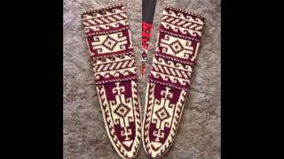 Как связать носки-джурабы.