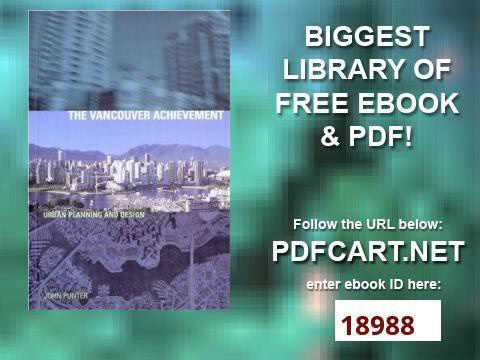 The Vancouver Achievement Urban Planning and Design