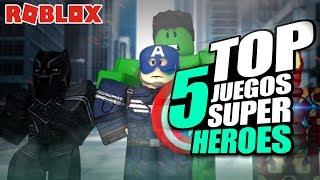 TOP 5 THE BEST ROBLOX SUPER HEROES GAMES