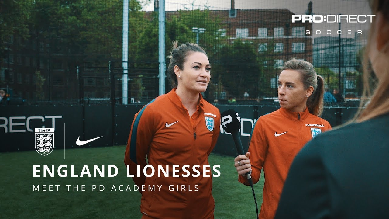 <div>PRO:DIRECT SOCCER | England Women's Team Euro 2017: Jodie Taylor &amp; other Lionesses meet the PD Academy Girls</div><div><br></div>