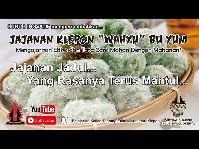 JAJANAN KLEPON WAHYU BU YUM - Gubug Kuliner Eps.16    Mojokerto