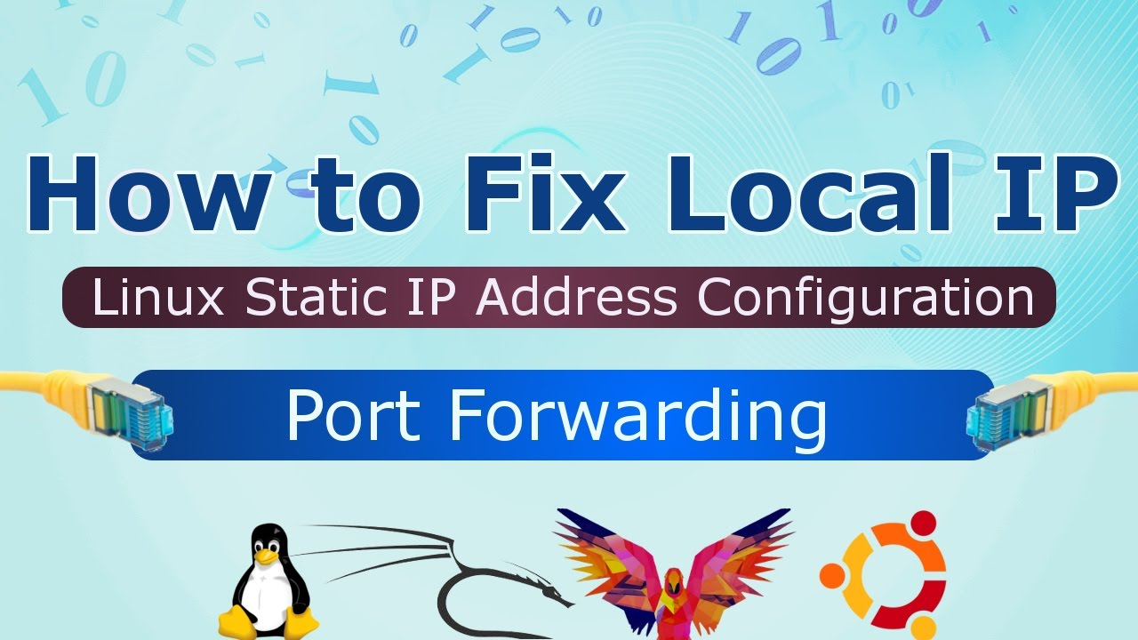 [Hindi] Linux Static IP Address Configuration | How to fix local IP in Kali  Linux