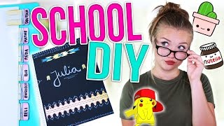 BACK TO SCHOOL DIY SCHOOL SUPPLIES! | Julia Beautx