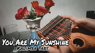 YOU ARE MY SUNSHINE - with Kalimba Easy Tabs & Tutorial (for beginner)