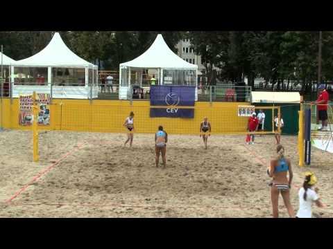 Beach Volleyball EEVZA 2014 Molodechno Ruts - KAZAK and Myshonkova - Shvedova