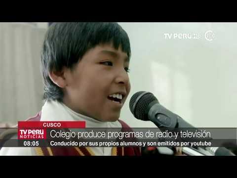 Cusco: alumnos aprenden produciendo programas de radio y televisión