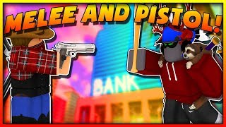 THE MOST INSANE PISTOL AND MELEE CHALLENGE EVER IN MAD CITY! (ROBLOX)