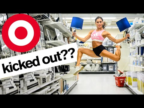 Insane Fitness Star Crashes Target For A Free Workout