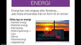 Energi och energiomvandlingar