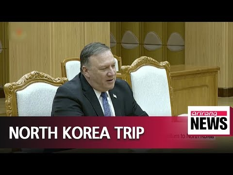 U.S. Secretary of State Mike Pompeo 'very happy' to return to North Korea