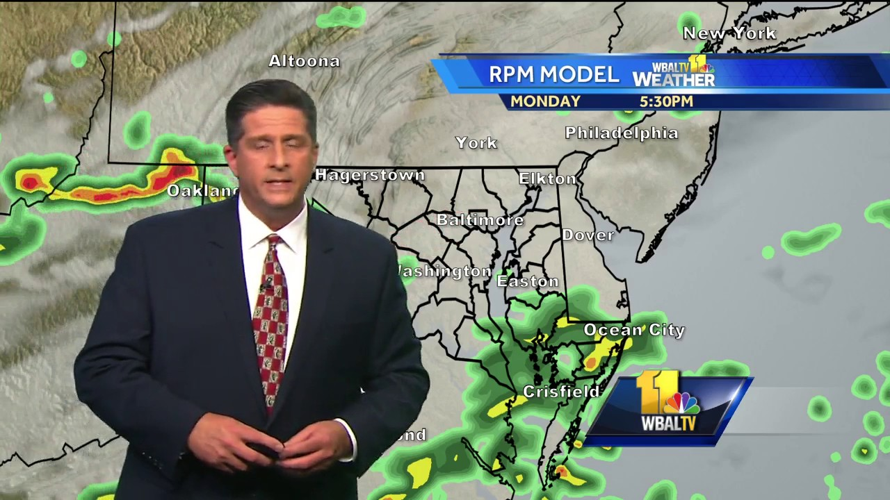 Tony shows when rain moves in Monday
