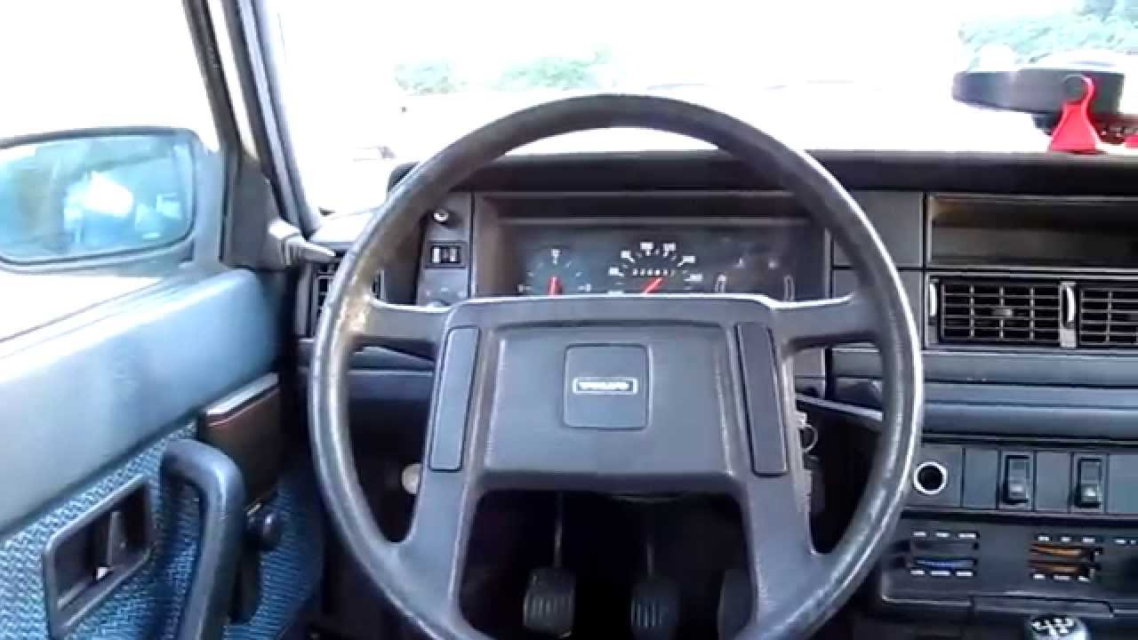 Volvo 240 Sedan View From The Rear Seat Walk Around