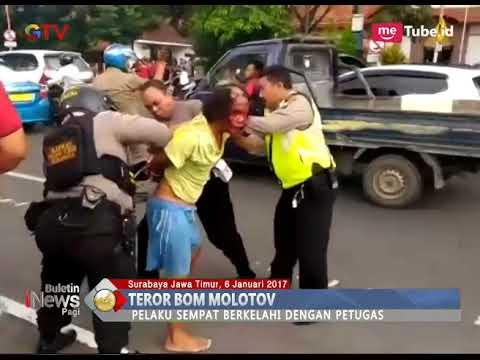 Teror Bom Molotov di Depan Gedung Negara Grahadi Surabaya ...