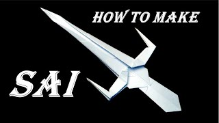 how to make a SAI out of paper  Ninja Weapon