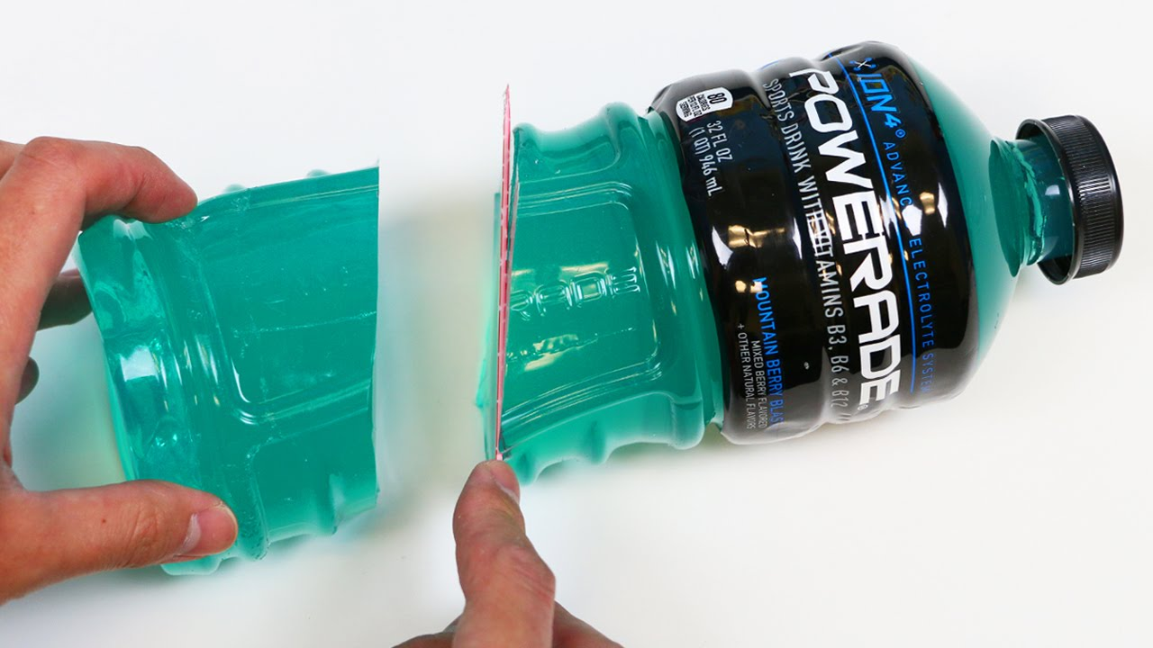 How to make a huge powerade gummy bottle jello dessert for What can you make out of water bottles