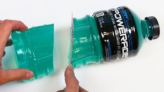How to Make a HUGE Powerade Gummy Bottle Jello Dessert!