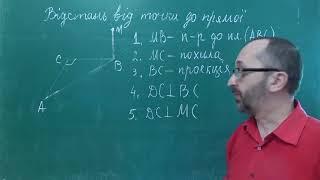 Тема 11 Урок 2 Відстань від точки до прямої Задача 2  - 10 клас