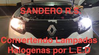 Sandero R.S. - Substituindo Lampadas Halogenas por LED
